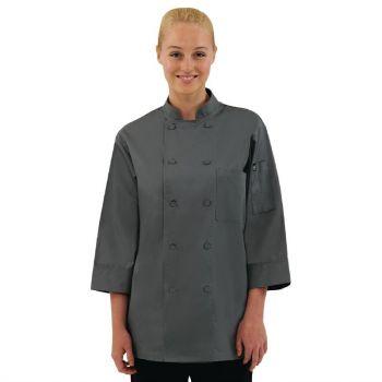 Veste de cuisine mixte Chef Works grise XXL