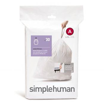 Simplehuman Bin Liner Code A 4,5 liter Pack of 30 Pieces