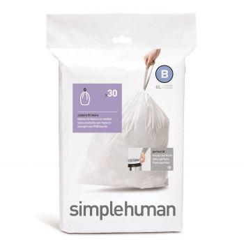 Simplehuman Bin Liner Code B 6 liter Pack of 30 Pieces