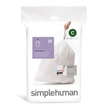 Simplehuman Bin Liner Code C 10-12 liter Pack of 20 Pieces