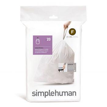 Simplehuman Bin Liner Code F 25 liter Pack of 20 Pieces