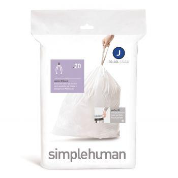 Simplehuman Bin Liner Code J 38-40 liter Pack of 20 Pieces