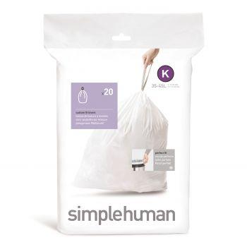 Simplehuman Bin Liner Code K 35-45 liter Pack of 20 Pieces