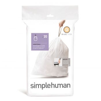Simplehuman Bin Liner Code Q 50 liter Pack of 20 Pieces