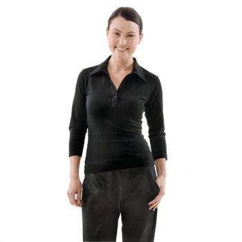 T-Shirt col V femme Uniform Works noir XS