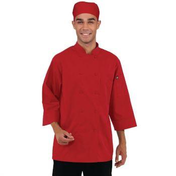 Veste de cuisine mixte Chef Works rouge L