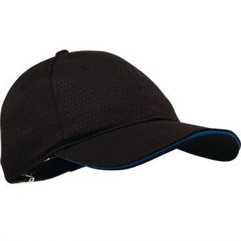 Casquette baseball Cool Vent Chef Works noire et bleue