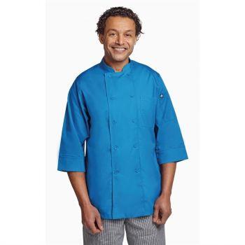 Veste de cuisine mixte Chef Works bleue XL