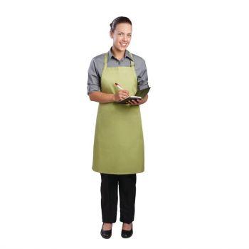 Tablier bavette Chef Works vert anis
