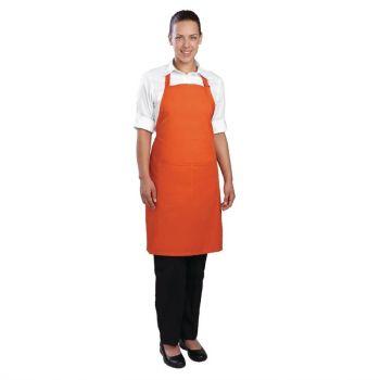 Tablier bavette Chef Works orange