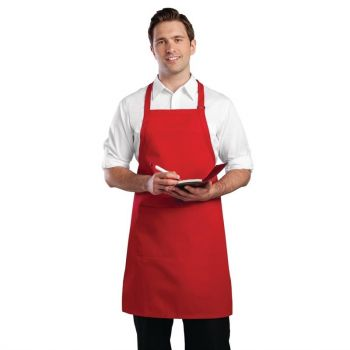 Tablier bavette Chef Works rouge