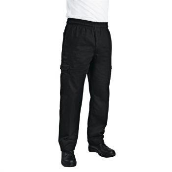 Pantalon de cuisine mixte Chef Works Slim Fit Cargo noir XXL