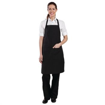 Tablier bavette Chef Works finement rayé