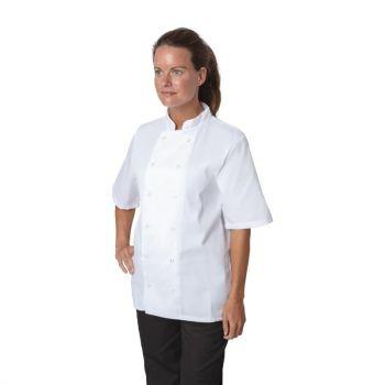 Veste de cuisine Whites Boston manches courtes blanche XXL
