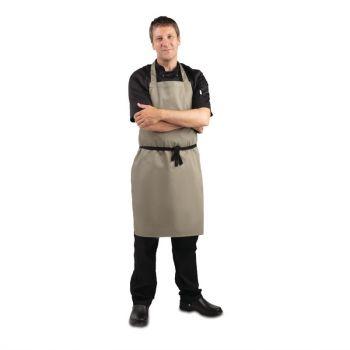 Tablier bavette Whites polyester-coton olive
