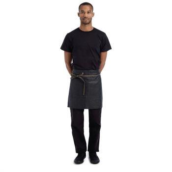 Tablier serveur court en effet mouillé Chef Works Urban Boulder noir et marron