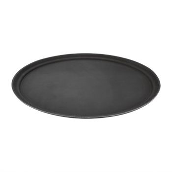 Plateau ovale en plastique anti-glisse Kristallon