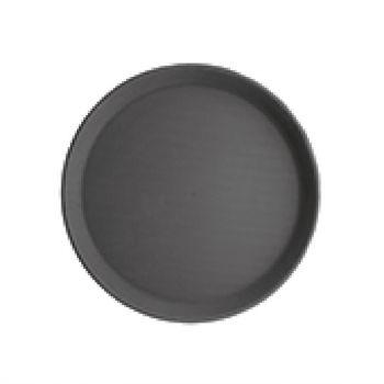 Plateau antidérapant en plastique Kristallon rond noir 280mm