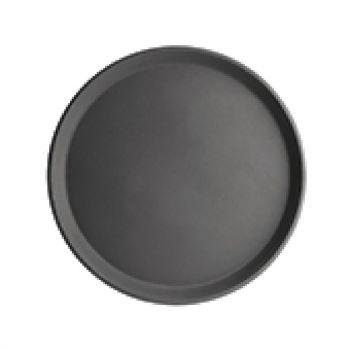 Plateau antidérapant en plastique Kristallon rond noir 356mm