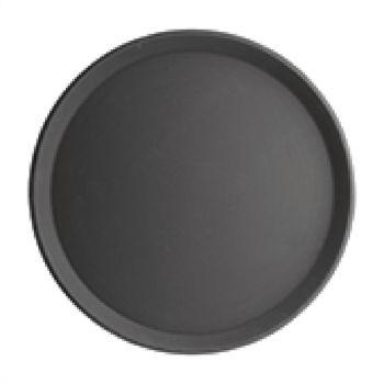 Plateau antidérapant en plastique Kristallon rond noir 406mm
