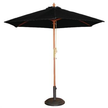Parasol rond Bolero noir 2;5m