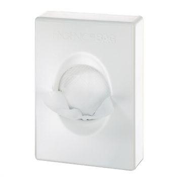 Distributeur de sacs hygiéniques blanc