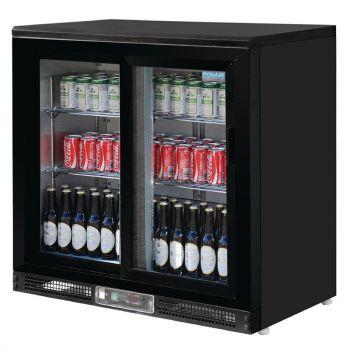 Arrière-bar portes coulissantes 182 bouteilles Polar Série G