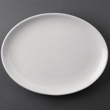 Assiettes creuses ovales Athena Hotelware 254 x 197mm