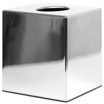 Boîte à mouchoirs cube Bolero chrome brillant