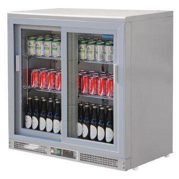 Arrière-bar gris métal 180 bouteilles Polar Série G