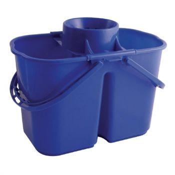 Seau-essoreur double Jantex code couleur bleu
