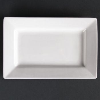 Assiettes rectangulaires à bord large Lumina 200 x 130mm
