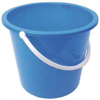 Seau rond en plastique Jantex 10L bleu