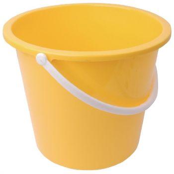 Seau rond en plastique Jantex 10L jaune