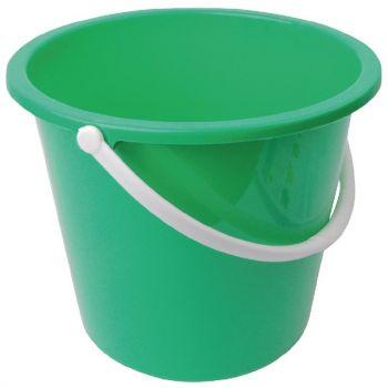 Seau rond en plastique Jantex 10L vert