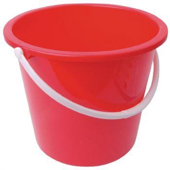 Seau rond en plastique Jantex 10L rouge
