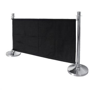 Barrière en toile Bolero noire