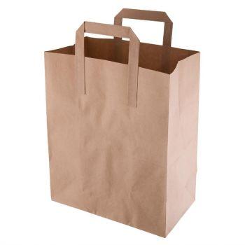 Sacs en papier recyclable marron 255 x 215mm