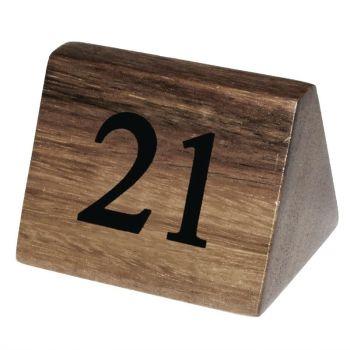 Numéros de table en bois Olympia 21 à 30