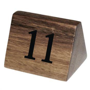 Numéros de table en bois Olympia 11 à 20
