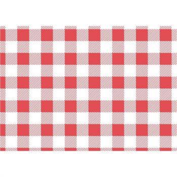 Papier ingraissable vichy rouge 250x250mm lot de 200