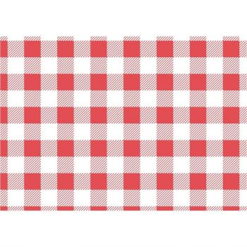 Papier ingraissable vichy rouge 190x310mm lot de 200