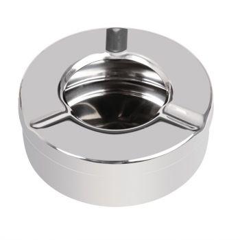 Cendrier inox anti-vent Olympia 90mm x 6