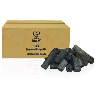 Briquettes de charbon de bois qualité restaurant Big K 10kg