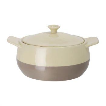 Cocotte ronde crème et taupe Olympia 1;8L
