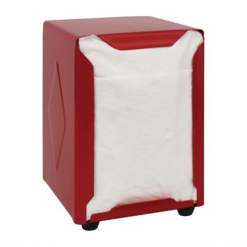 Distributeur de serviettes inox Olympia rouge