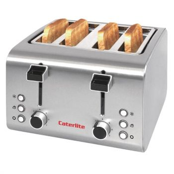 Grille-pain inox Caterlite 4 tranches