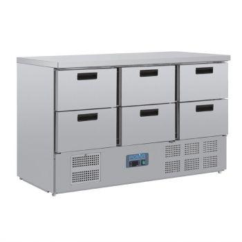 Table réfrigérée 6 tiroirs Polar Série G