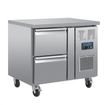 Table réfrigérée GN 1/1 ventilée 2 tiroirs Polar Série U