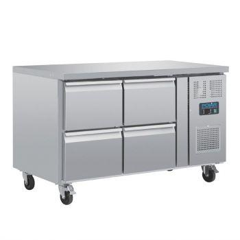 Table réfrigérée GN 1/1 ventilée 4 tiroirs Polar Série U